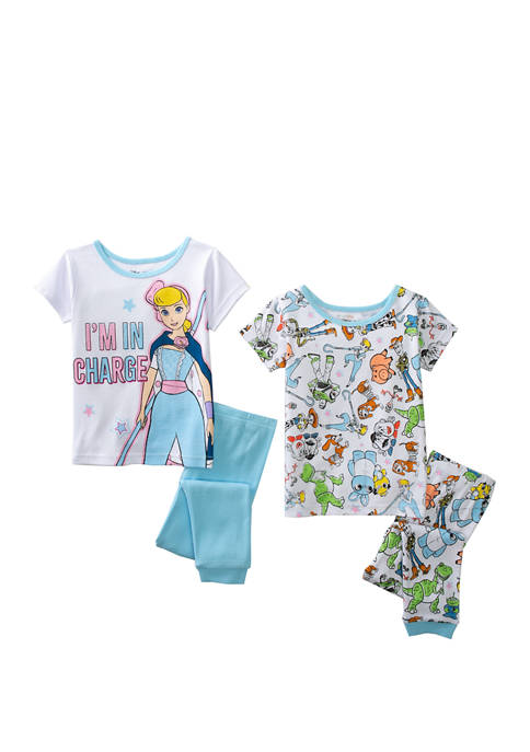 Toddler Girls 4-Piece Toy Story Pajama Set