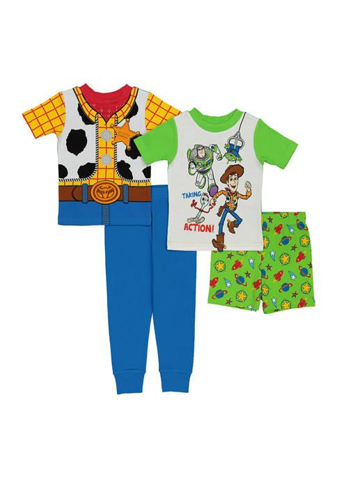 AME Toddler Boys 4-Piece Cotton Pajama Set