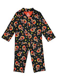 Toddler Boys Incredibles Coat Pajama Set