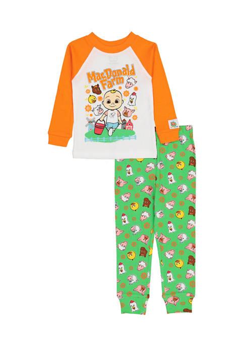 AME Toddler Girls Macdonald Farm Pajama Set