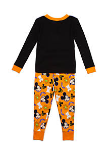 disney halloween mickey mouse 2 piece pajama set toddler boys