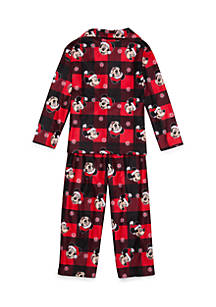 disney mickey mouse christmas 2 piece pajama set toddler boys