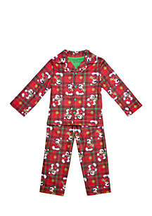 Toddler Boys Mickey Mouse Coat Pajama Set
