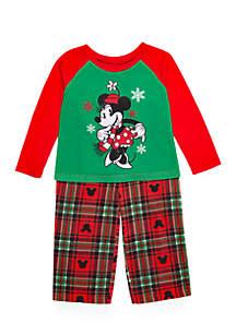 Toddler Girls Minnie Mouse 2-Piece Pajama Set