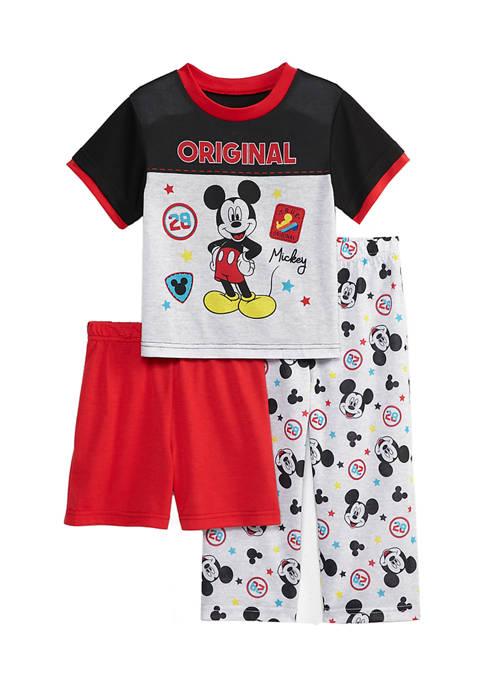 Toddler Boys 3 Piece Mickey Mouse Pajama Set