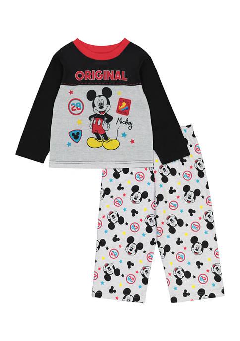 Disney® Mickey Baby Boys Badge Mouse Graphic Pajama
