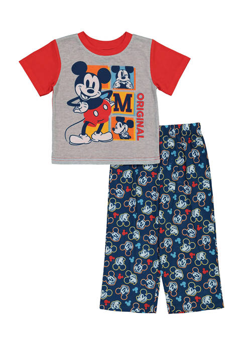 Disney® Mickey Toddler Boys 2 Piece Mickey Pajama
