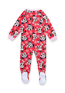 disney christmas minnie footed pajamas toddler girls