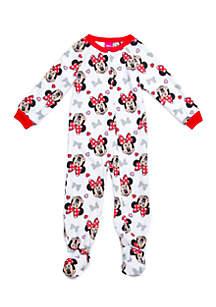 Toddler Girls Minnie Blanket Sleeper