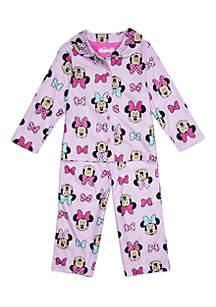 Toddler Girls Minnie Coat Pajama Set