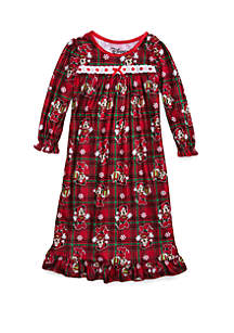 Toddler Girls Minnie Holiday Granny Gown