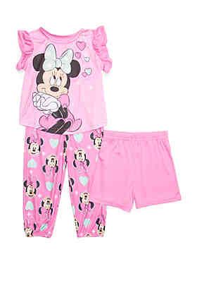 7e14f2c53 Disney® Minnie Toddler Girls Minnie Mouse 3 Piece Pajama Set ...