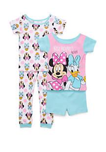 Disney® Minnie Toddler Girls Minnie Mouse 4 Piece Pajama Set