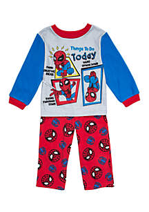 Toddler Boys Spider-Man Fleece Pajama Set