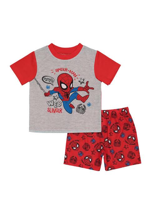 Toddler Boys 2 Piece Spider-Man Pajama Set