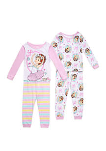 Disney® Junior™ Toddler Girls Fancy Nancy 4 Piece Pajama Set