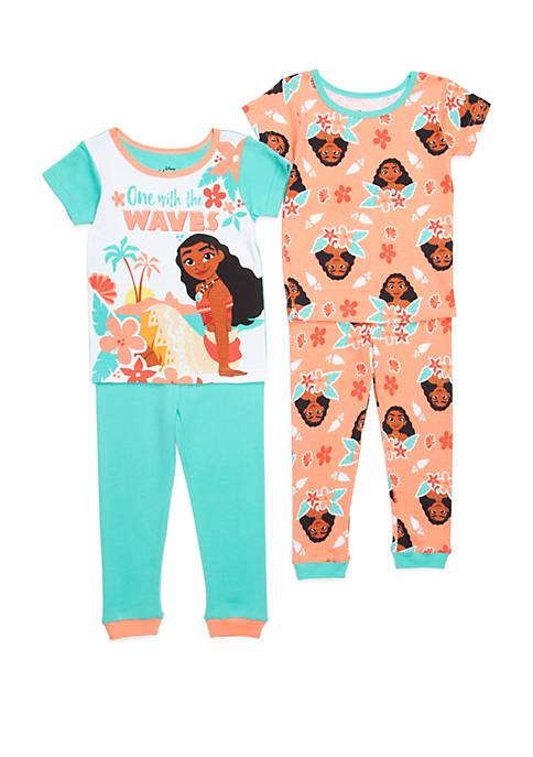 Disney® Toddler Girls Moana 4 Piece Pajama Set