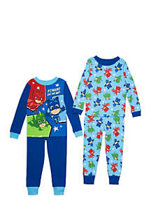 Toddler Boys PJ Mask 4-Piece Pajama Set