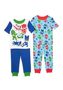 PJ Masks Toddler Boys PJ Mask 4 Piece Pajama Set