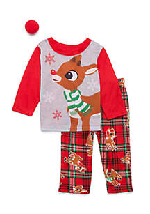 Rudolph Pajamas for the Family
