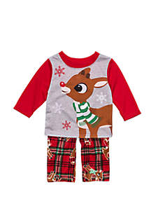RUDOLPH THE RED-NOSED REINDEER Baby Rudolph Pajama Set