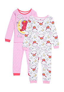 Toddler Girls Sesame Street Pajama Set