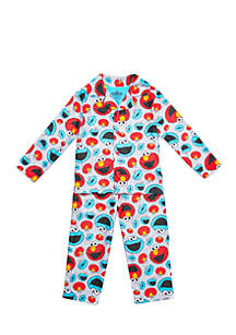 Toddler Boys Sesame Street Coat Pajama Set