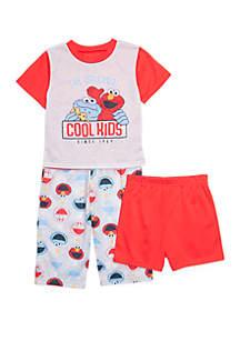 Sesame Street Toddler Boys Sesame Street 3 Piece Pajama Set