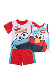 f4d612cc8 ... Sesame Street Toddler Boys Sesame Street 3 Piece Pajama Set