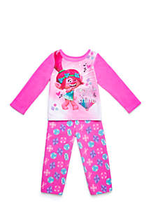 Toddler Girls Trolls Fleece Pajama Set