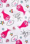 Toddler Girls Trolls Pink Coat 2 Piece Pajama Set