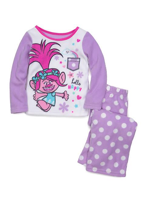 DreamWorks Trolls™ Toddler Girls Fleece 2 Piece Pajama