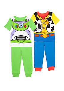 Disney Pixar Toddler Boys Toy Story 4 Piece Pajama Set