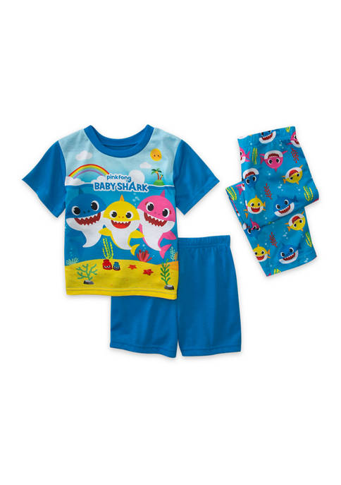 Pinkfong Baby Shark Toddler Boys 3 Piece Pajama