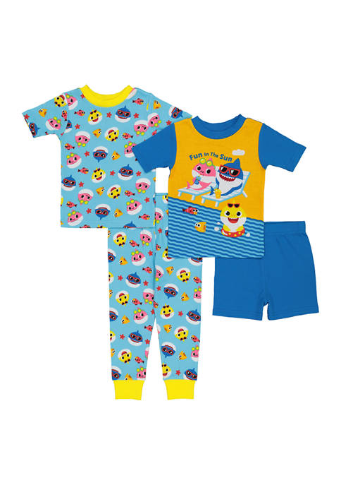 AME Toddler Boy 4 Piece Shark Pajama Set