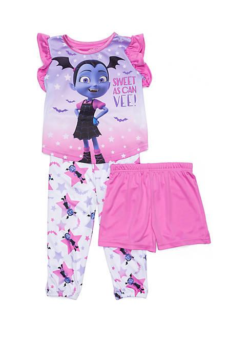 Toddler Girls Vampirina 3 Piece Pajama Set