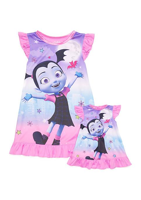 Disney® Junior™ Toddler Girls Vampirina Doll Nightgown Set