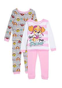 4-Piece Paw Patrol Pajama Set Toddler Girls