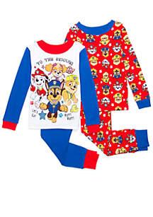 Toddler Boys Paw Patrol Pajama 4-Piece Set