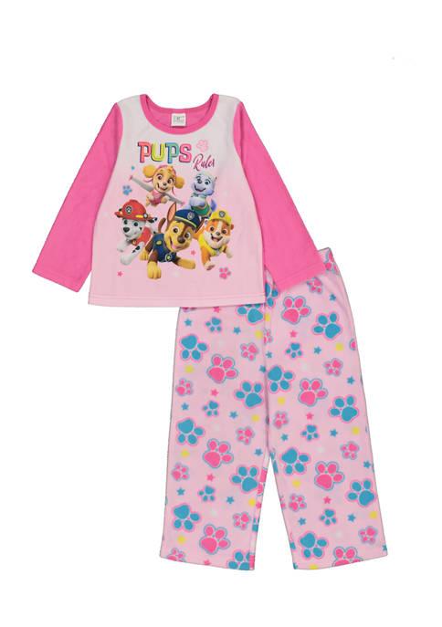 Paw Patrol Toddler Girls 2-Piece Fleece Pajama Set