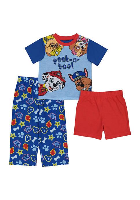 AME Toddler Boys 3-Piece Pajama Set