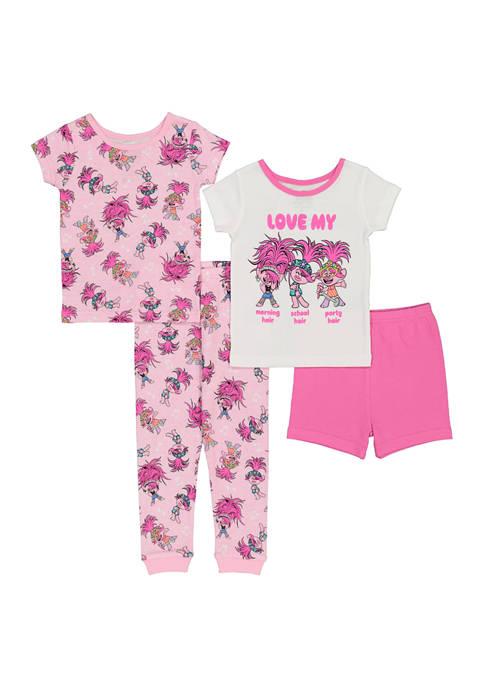 DreamWorks Trolls™ Toddler Girls 4-Piece Pajama Set