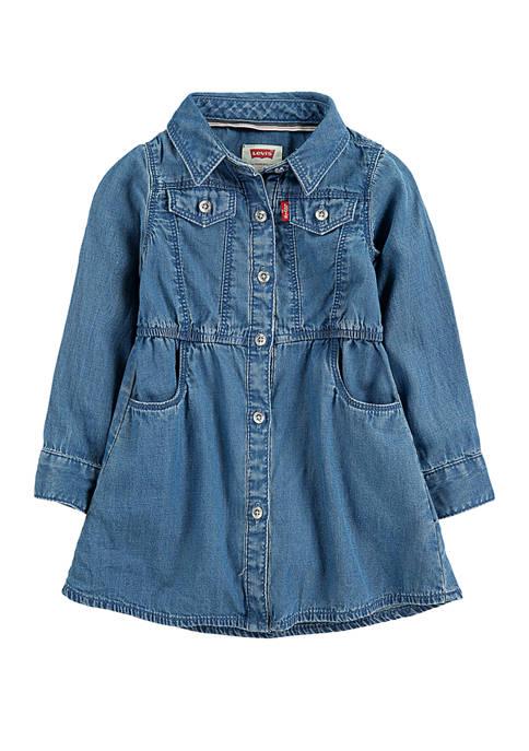 Levi's® Baby Girls Long Sleeve Western Dress