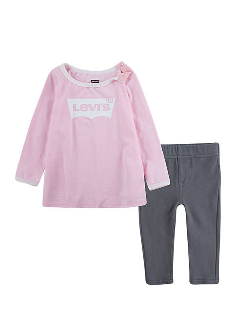Levi's® Baby Girls 2 Piece Long Sleeve Batwing