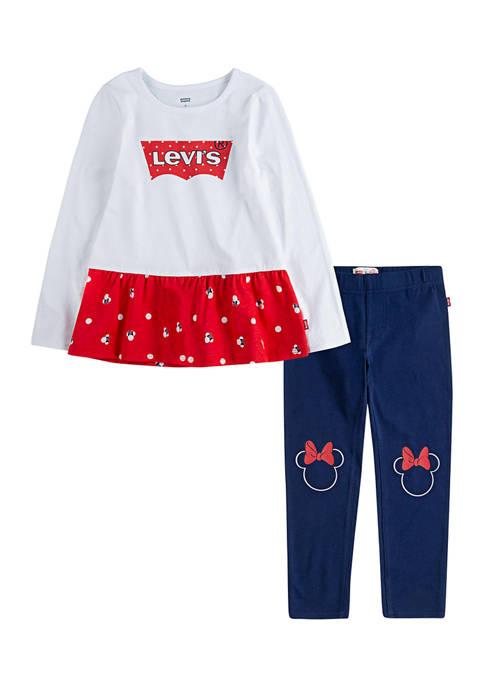 Baby Girls Peplum Graphic T-Shirt and Pants