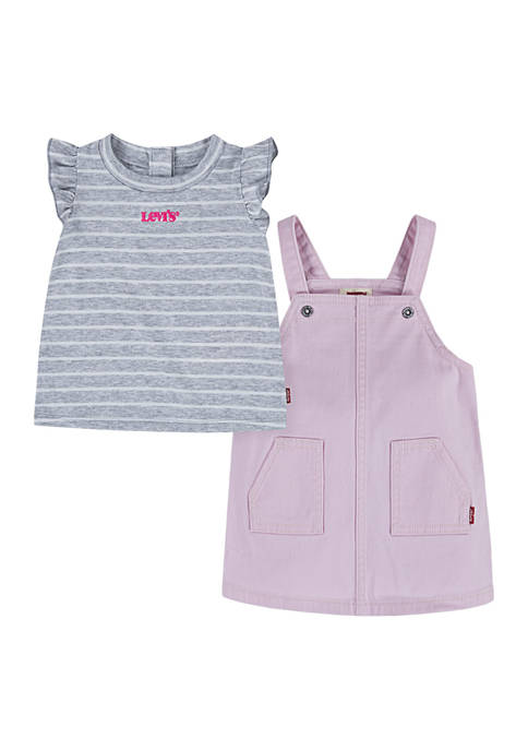 Levi's® Baby Girls Striped Flutter Sleeve T-Shirt and