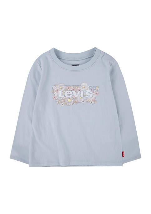 Baby Girls Long Sleeve Heart Graphic T-Shirt