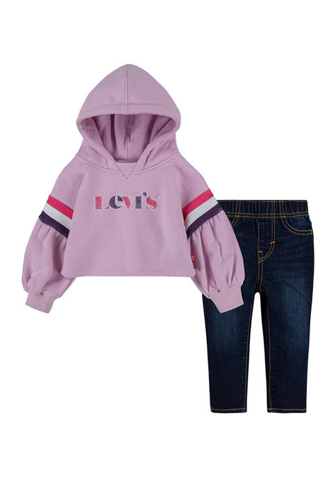 Baby Girls Graphic Hooded Set