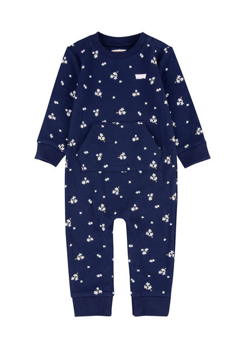Levi's® Baby Girls Knit Coveralls