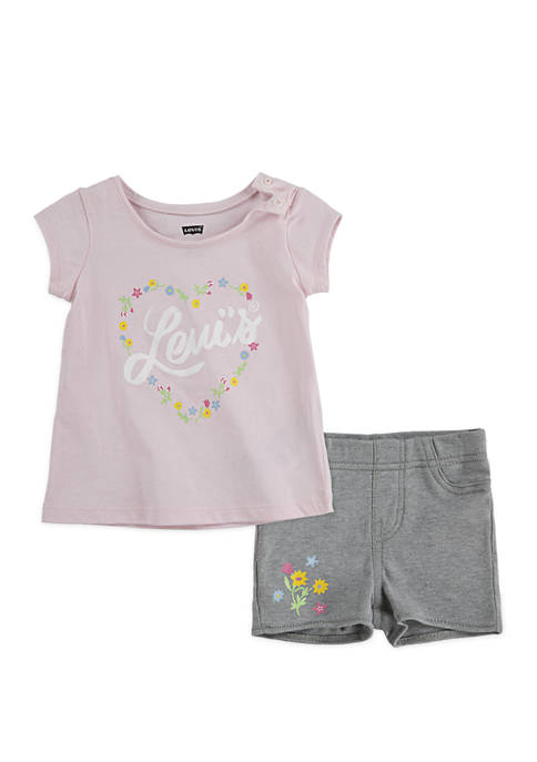 Levi's® Toddler Girls 2-Piece Graphic T-Shirt and Pull
